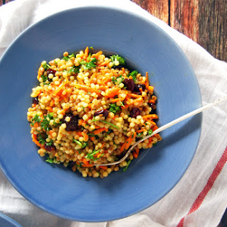 Israeli Couscous Salad with Carrot and Lemon Oregano Vinaigrette