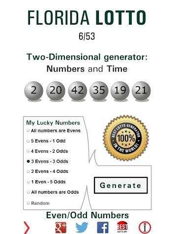 Lotto Winner for Florida Lotto Screenshot