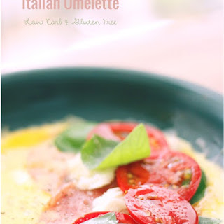 Cheesy Italian Omelette - Low Carb and Gluten Free