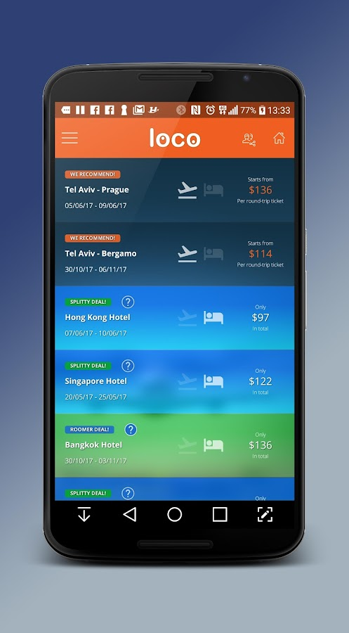 Loco - Cheap Flights & Hotels- screenshot