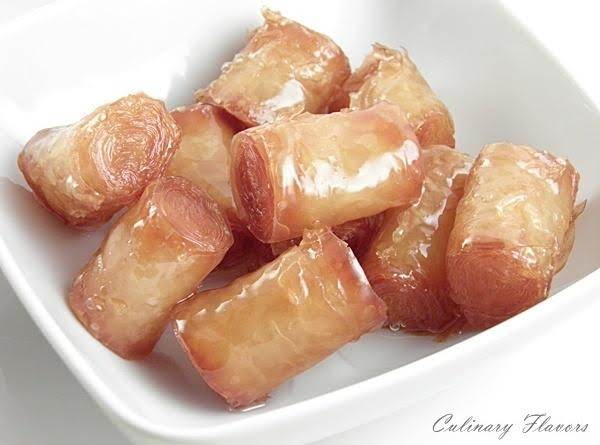 Kourkoubínia (little Phyllo Rolls) Recipe