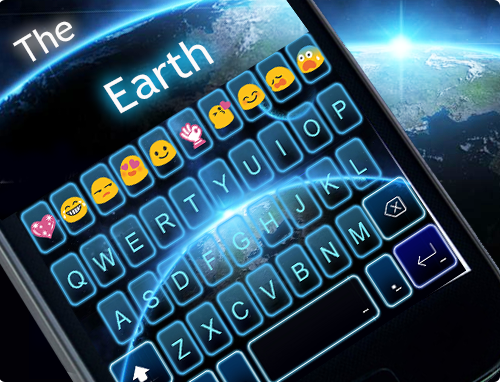 Скриншот The Earth Emoji Keyboard Theme