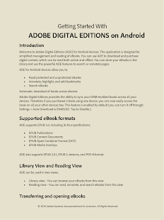 Adobe Digital Editions- screenshot thumbnail