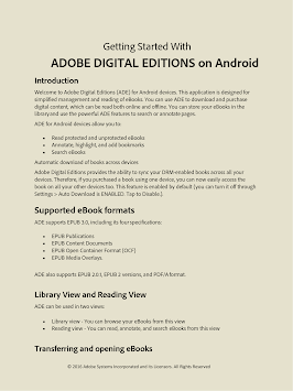 Adobe Digital Editions APK screenshot thumbnail 6