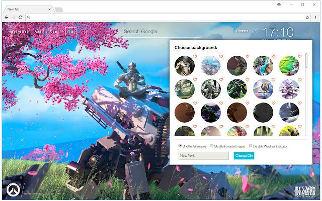 Overwatch genji wallpapers hd new tab themes chrome web - Chrome web store wallpaper ...