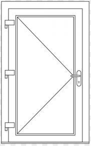 Deur , beschrijf je deur : Breedte x Hoogte