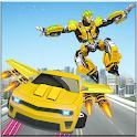 Flying Jetpack Car Robot Transform - Robot Games icon