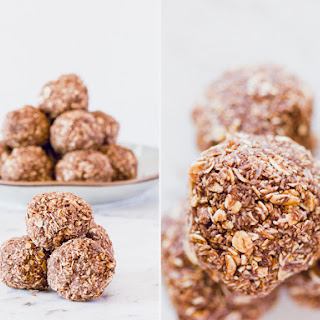 Chocolate and Coconut Oat Balls.