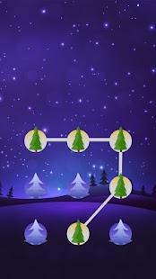 Tree APP Lock Theme Night Sky Pin Lock Screen - náhled