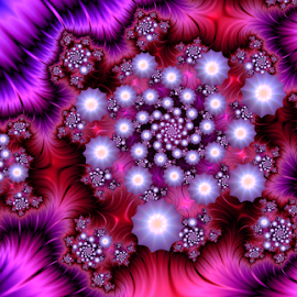 by Cassy 67 - Illustration Abstract & Patterns ( digital, love, surreal, harmony, trippy, star, abstract, creative, flower, psychedelic, modern, light, pearls, fractal, energy )