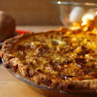 Roasted Sweet Potato, Caramelized Onion, And Gorgonzola Quiche