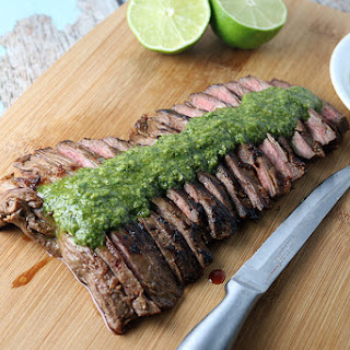 Seared Skirt Steak with Cilantro Paste