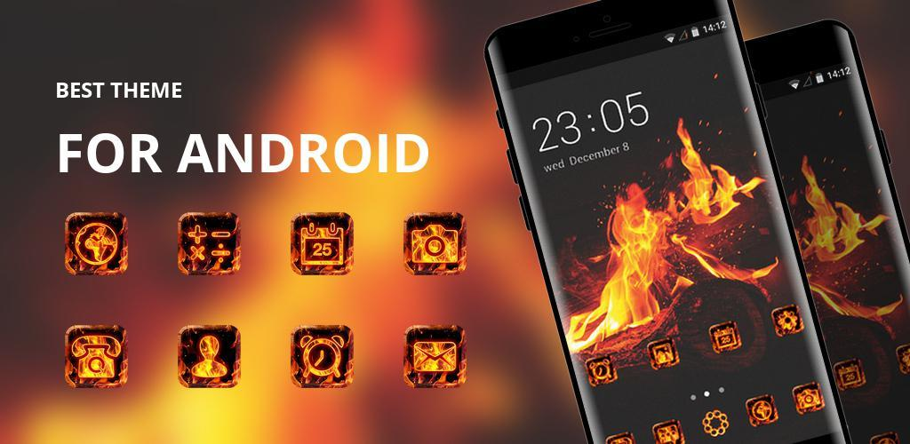 Theme for bonfire fire flames sparks wallpaper APK Download