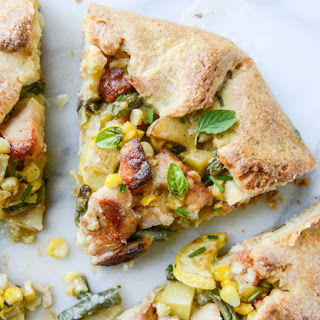 Summer Chicken Pot Pie Galette with Herbed Crust