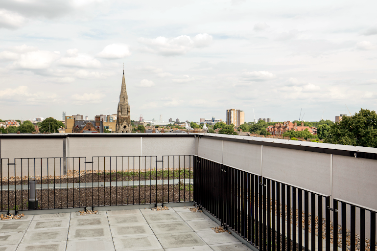Rooftop Terrace at Dalston Works