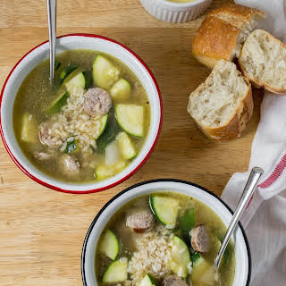 Sausage and Zucchini Soup.