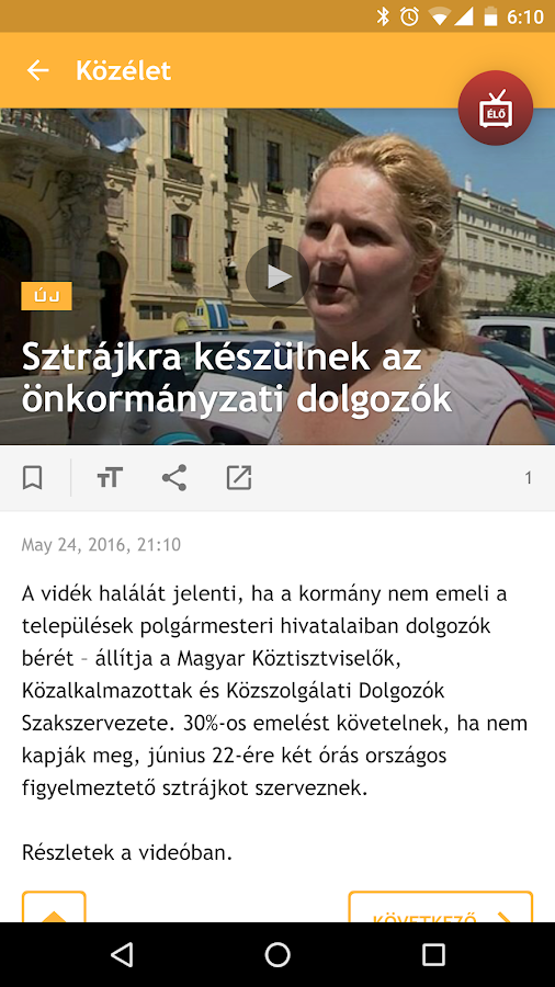 Szeged TV- screenshot