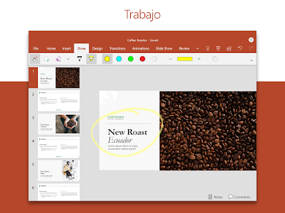 PowerPoint: Diapositivas y presentaciones Screenshot