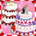 Rose Wedding Cake Maker Games icon