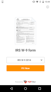 IRS W-9 form- screenshot thumbnail