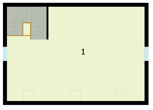 G295 szkielet drewniany garaż dwustanowiskowy z poddaszem użytkowym - Rzut poddasza