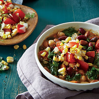 Toasted Corn and Tomato Chili Topping