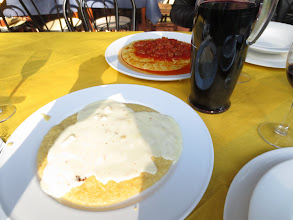 Photo: Ragu and Cheese Polentas with a lot of wine
