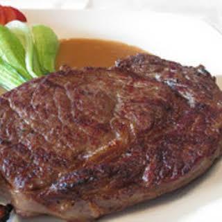 Grilled Rib Eye Steak.