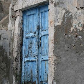 Blue Door by Gwen Paton - Buildings & Architecture Other Exteriors ( door, rustic, blue door, blue, greece, santorini island,  )
