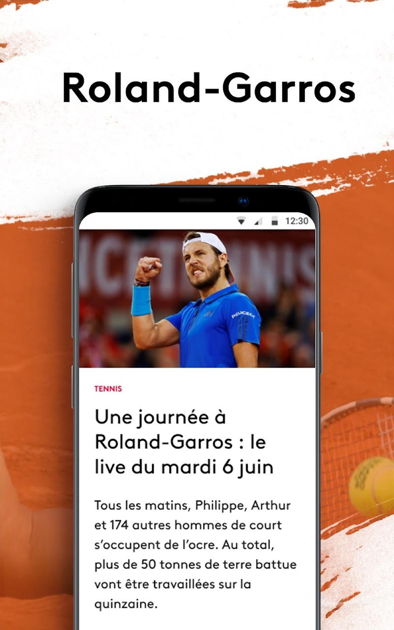 France tv sport : suivez Roland-Garros en direct APK Cracked