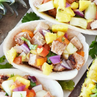 Grilled Pork Tacos with Fresh Pineapple Salsa.