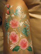 Photo: Rose body painting by Heidi from La Verne.Book Heidi by calling 888-750-7024
