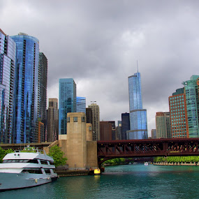 Chicago Waterscaped by Alice Gipson - City,  Street & Park  Skylines ( chicago water, alicegipsonphotographs, chicago, chicago waterscaped, yacht in chicago )