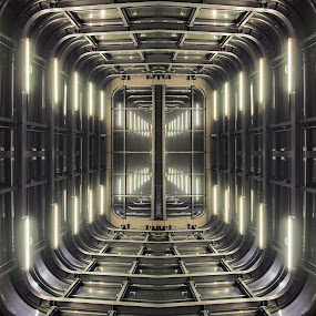 Space Station X by Ciddi Biri - Buildings & Architecture Other Interior ( interior, radiation, building, technology, indoor, hangar, mission mars, test area, science fiction, architecture, space, cosmic voyage, science, space station, mars, mission, future, scientific, cosmos, grid, alien, perspective, construction, light, radioactive, gravity )