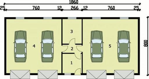G49 - Rzut garażu