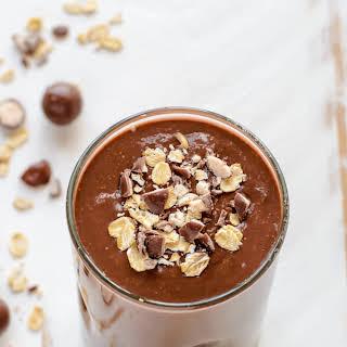 Chocolate Malt Oatmeal Smoothie.