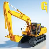 Sand Excavator Tractor 3D 2