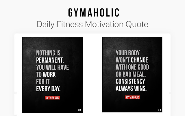 Gymaholic Fitness Workout Motivation Quotes