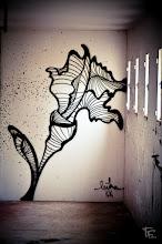 Photo: Sur mon mur je peins une fleur pour qu'un jour elle prenne sa liberté en franchissant la fenêtre, ouverture de tous les possibles...  On my wall I paint a flower so that one day it takes its freedom by crossing the window, the opening of all the possible...  Wish you all a nice sunday.  #streetartsunday