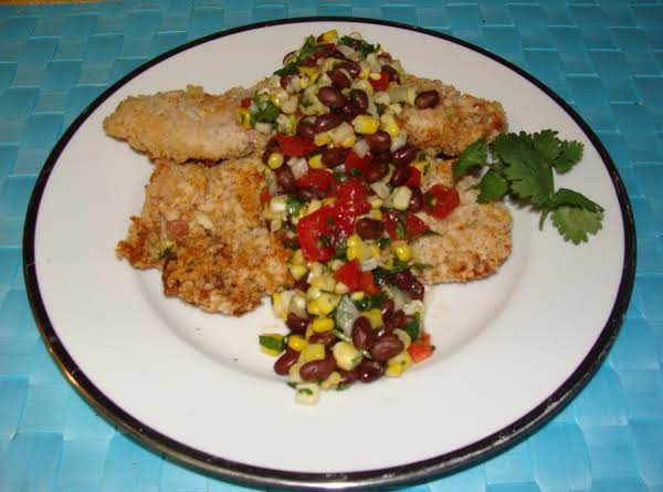 Baked Pork Chops With Corn And Black Bean Salsa Recipe