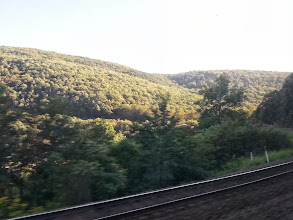 Photo: The next 7 pics are of the horseshoe curve just past Altoona. The train goes in a 220 degree arc as it makes its way up the mountain.