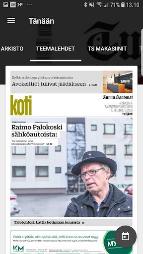 Turun Sanomat näköislehti screenshot 7