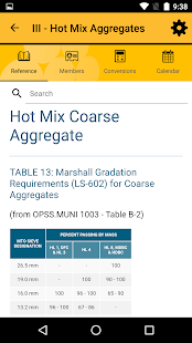 OSSGA Materials Reference App- screenshot thumbnail