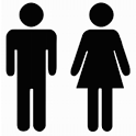 Boy or Girl. Check Gender icon