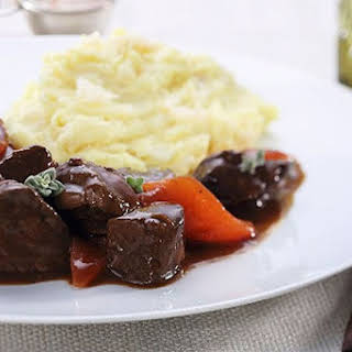 Beef Stew with Mashed Potatoes.