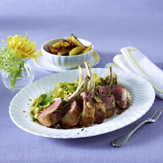 Rack of Lamb with Potatoes and Brussels Sprouts