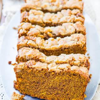 Soft Vegan Pumpkin Bread with Brown Sugar Streusel Crust
