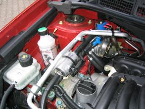 Photo: Motorraum, Flashlube, Gasfilter