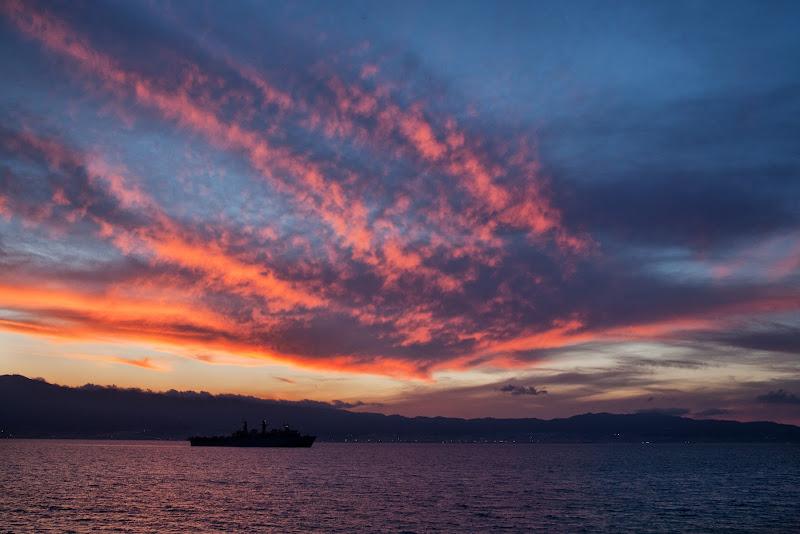La fine del giorno sullo stretto di Fiorenza Aldo Photo