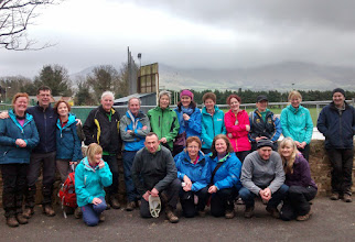 Photo: Taking a break in Lisvernane on Gerry Ryan's B walk on Slievenamuck, Sunday March 9th, 2014.